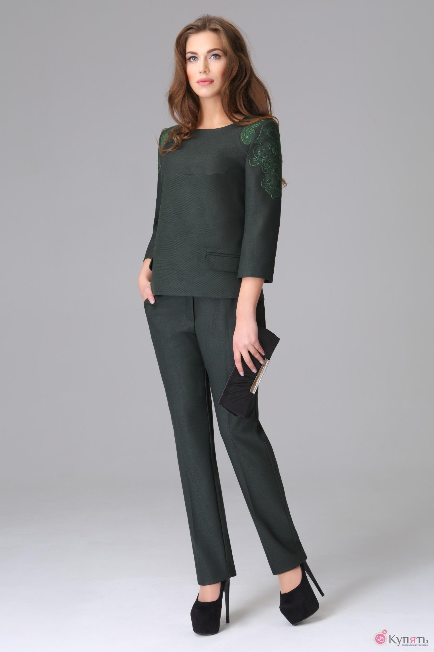 Зеленый костюм женский доставка