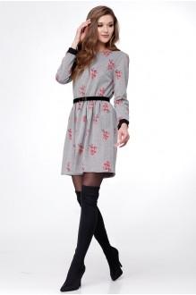 Ладис Лайн 1015-3 серо-цветочный принт
