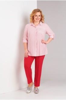 Милора Стиль 704 красные брюки