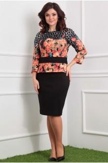 Мода-Юрс 2198 оранжевые цветы/черный
