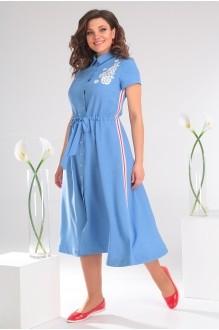 Мода-Юрс 2405 голубой + красные полоски