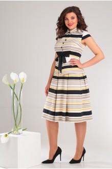Мода-Юрс 2352 чёрный + беж + желтый