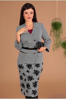 Мода-Юрс 2491 чёрно-белый + юбка гусиная лапка