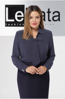 LeNata 11921 синяя в белые снежинки