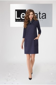 LeNata 11939 синий в клетку