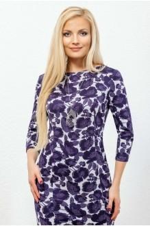 Платье Azzara 435  на светло-сером фоне фиолетовые цветы фото 2