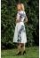 410Б светло-молочное платье с синим принтом №163821