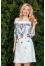 414 белое платье с шитьем №164670