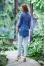 203 светло-серый+синий джинс №343171