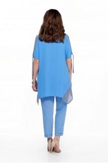 Костюм, комплект TEZA 198 голубая блуза/голубые брюки фото 2