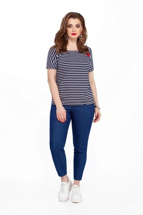 Костюм, комплект TEZA 204 синие брюки