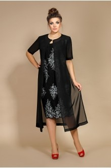 Мублиз 106 черный (платье+накидка)