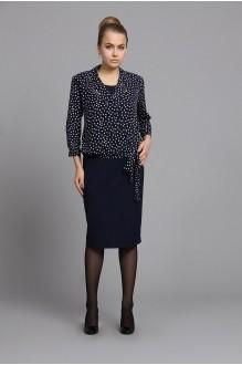 Fantazia Mod 2852 блузка черный/горох