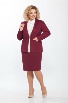 ЛаКона 973а бордо/молочная блуза