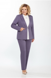 ЛаКона 973Б королевский пурпур/молочная блуза