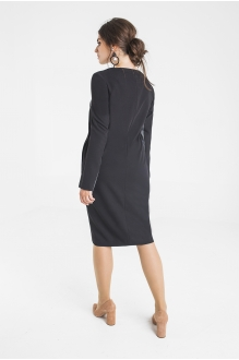 Платье Elletto 1715 серо-чёрный фото 2