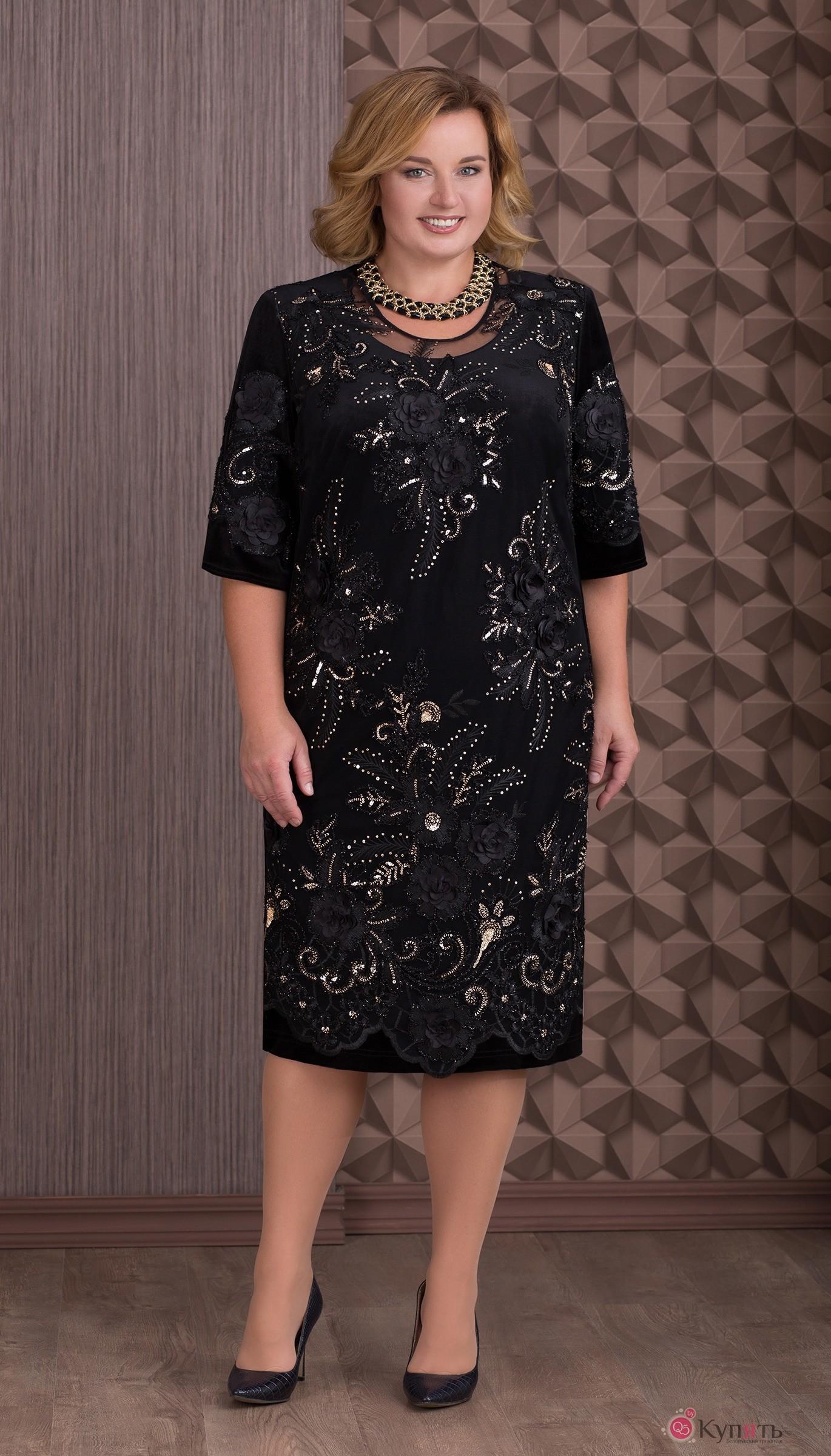 09636431c141 Платье Aira Style 636 черный с золотом - интернет-магазин женской ...