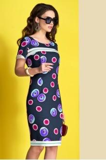 Платье Lissana 3375 синий+фуксия фото 2