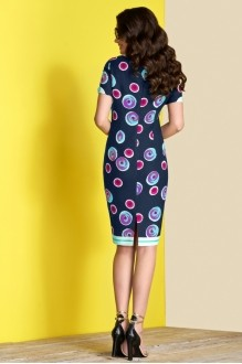 Платье Lissana 3375 синий+фуксия фото 3