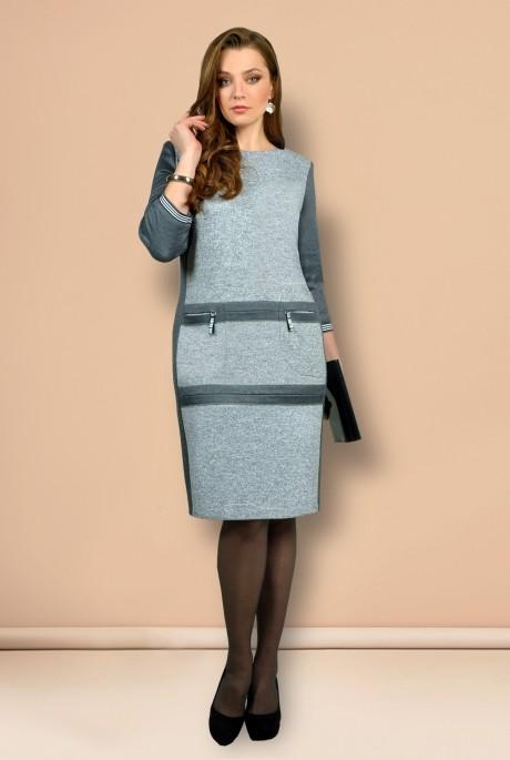 Платье Мишель Стиль 639 серый