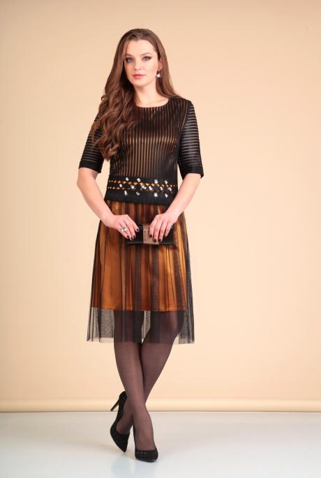 Платье Мишель Стиль 660 черный с золотом