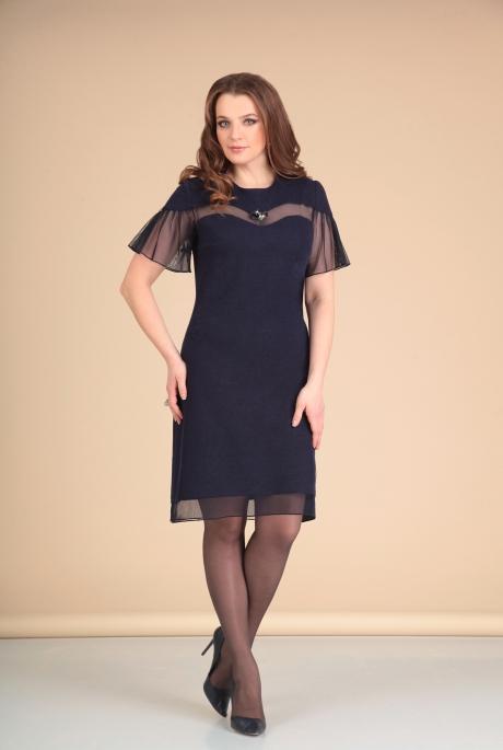 Платье Мишель Стиль 668 т. синий