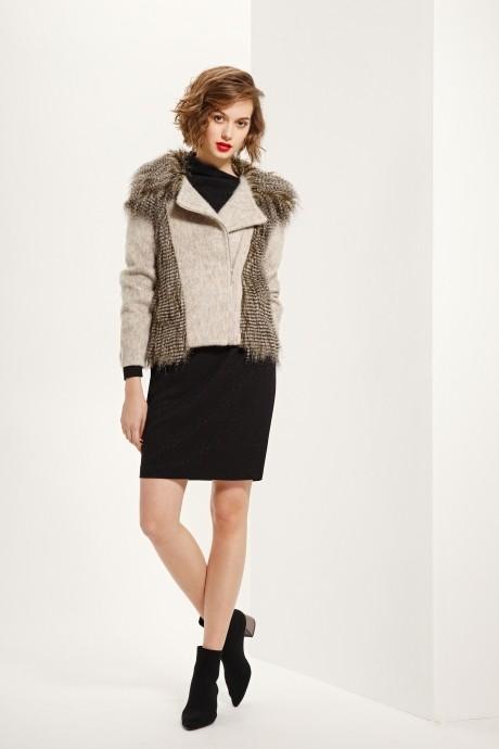 Куртка, пальто, плащ Prestige 3230 беж/золото