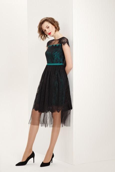 Платье Prestige 3560 черно-зеленый