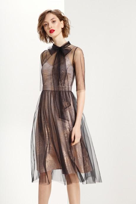 Платье Prestige 3612 черный-золото
