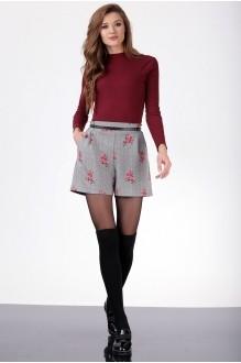 Ладис Лайн 1005 -1 серый+цветы