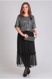 Платье Ладис Лайн 1033 серебристо-черный фото 2
