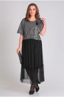 Платье Ладис Лайн 1033 серебристо-черный фото 3