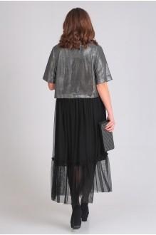 Платье Ладис Лайн 1033 серебристо-черный фото 4