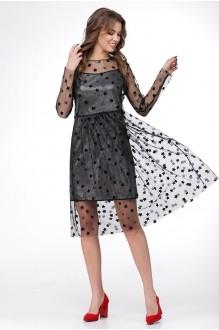 Платье Ладис Лайн 1029 серебристо-черный фото 1