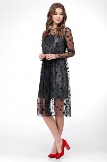 Платье Ладис Лайн 1029 серебристо-черный фото 2