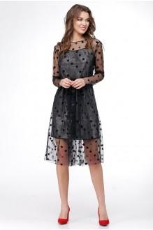 Платье Ладис Лайн 1029 серебристо-черный фото 3