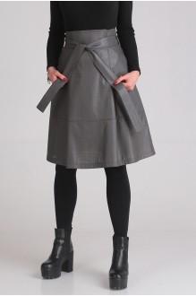 Юбка Ладис Лайн 1023 серый фото 2