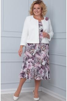 Ладис Лайн 1103/1 белый+розовые цветы