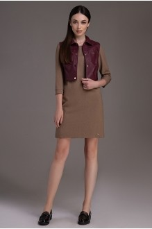 DilanaVIP 0024 коричневый+бордо