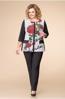 Romanovich Style 2-1382 чёрный с розой