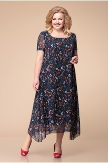 Romanovich Style 1-1332 синий в цветочный принт