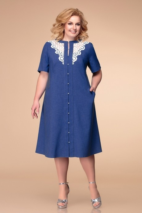 Платье Romanovich Style 1-1783 тёмно-синий