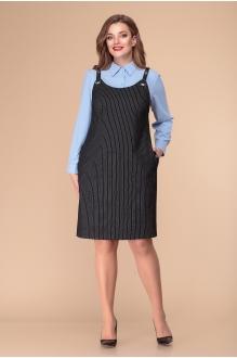 Romanovich Style 3-1846 голубая блузка/сарафан в полоску