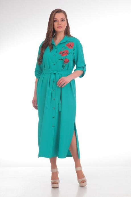 Платье Анастасия Мак 486 бирюзовый