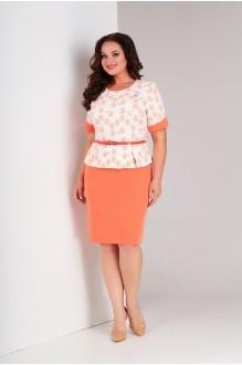Милора Стиль 446 персик+цветочный принт