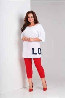 Милора Стиль 637 белый+красный