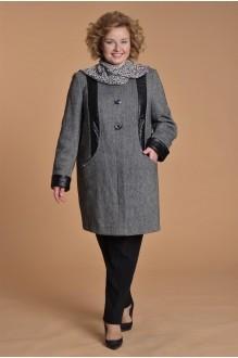 Куртка, пальто, плащ Люана Плюс 382.1 черно-белый фото 2