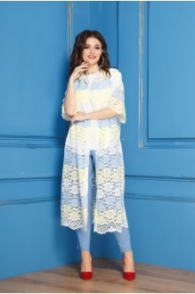 Anastasia 274 бело-желто-голубой