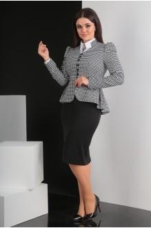 Костюм, комплект Мода-Юрс 2319-1 черно-белый фото 2