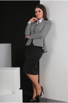 Костюм, комплект Мода-Юрс 2319-1 черно-белый фото 3